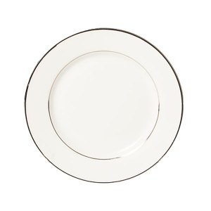 Sylvia salad or dessert plate with silver rim