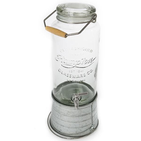 Mason jar drink dispenser with spigot