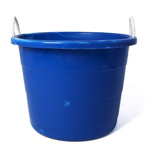 Utility bucket with rope handles- great for ice and drinks