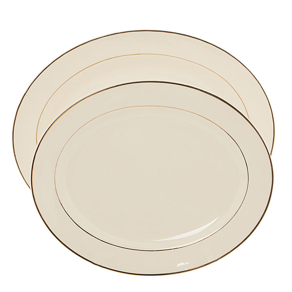 Oval gold rimmed platter - various sizes