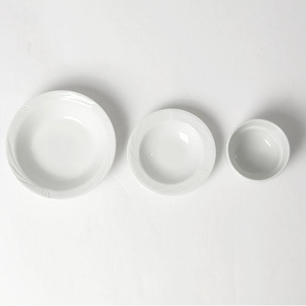 Arcadia Bowls top view - Fruit bowl, soup bowl and soup cup