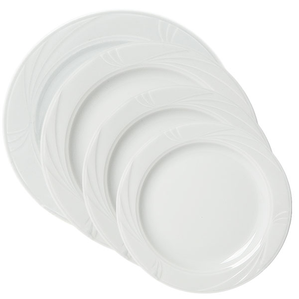 Arcadia white china collection