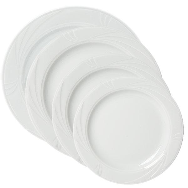 Arcadia white china collection