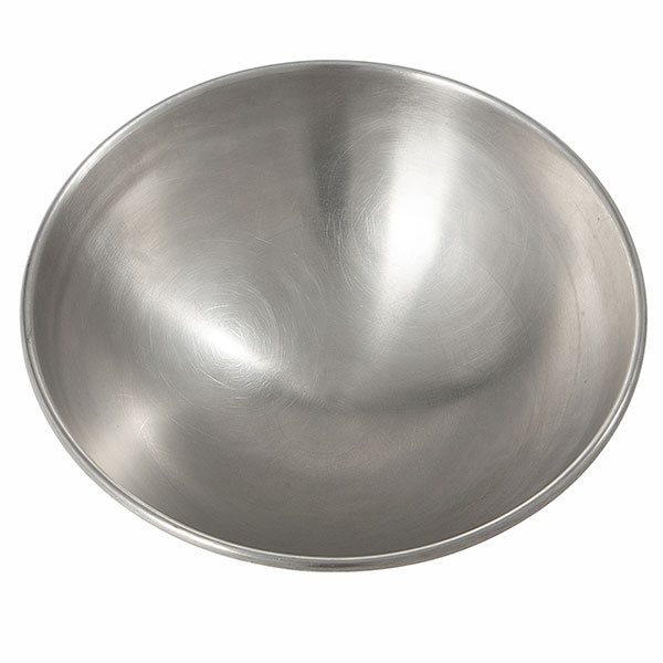 Interior view of the XL stainless serving bowl