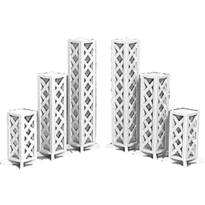 columns and lattice stands