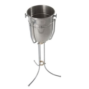 Silver standing wine cooler