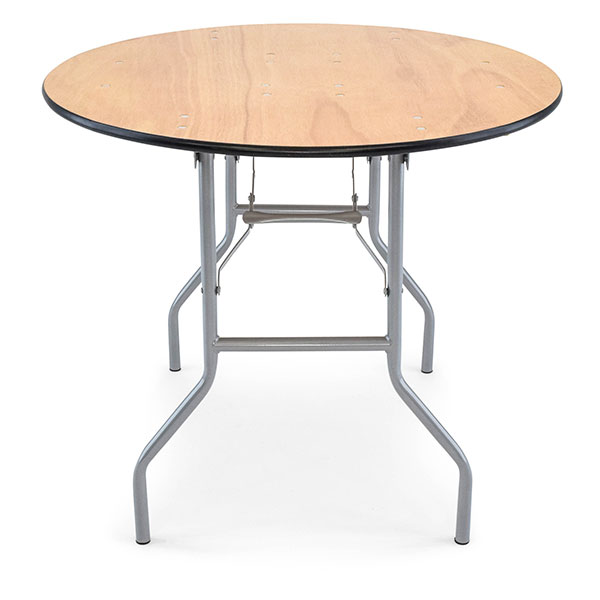 36 inch round plywood folding banquet table