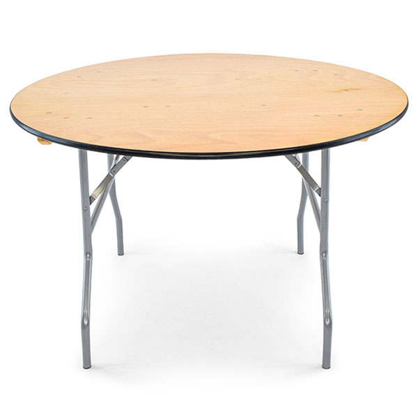 48 inch round plywood folding banquet table