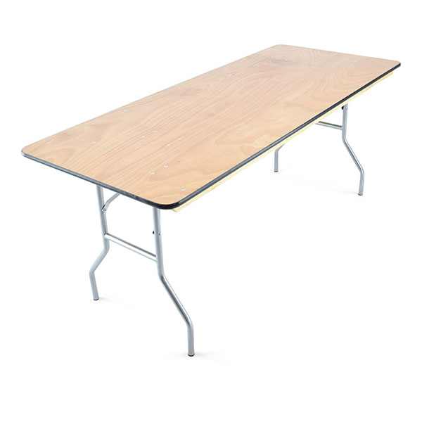 "6' X 30"" plywood folding banquet table"