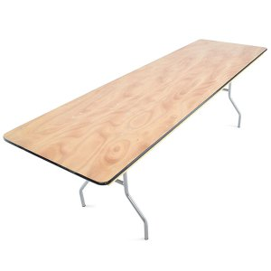 "8' X 30"" plywood folding banquet table"