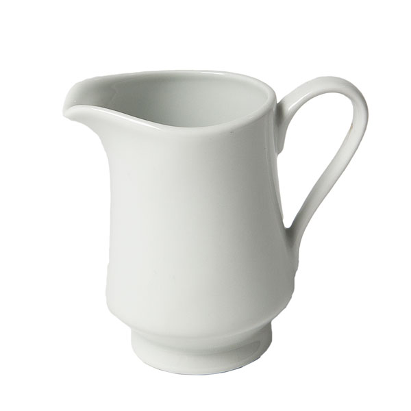 white china creamer