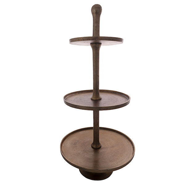 3-tier stand gold plated