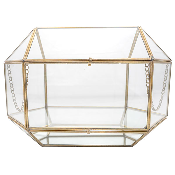 Gold Rimmed glass box