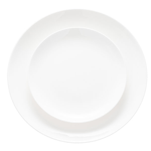 White Coupe is a simple, rimless china that is exceptional in its versatility.