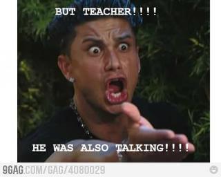 Ali profesore, i on je pričao!