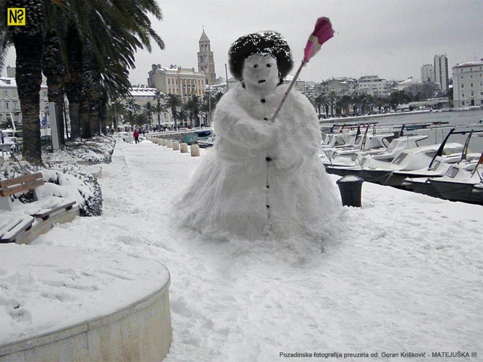 Lajk naš svakdašnji: Snijeg u Zagrebu i u Splitu