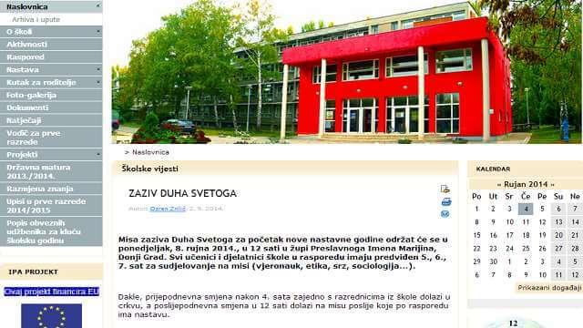 Medicinska škola u Osijeku naložila učenicima: Idite na misu umjesto na nastavu