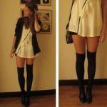 Duge košulje-haljine možete preoblikovati u zimsku odjeću uz samo par dugih čarapa.