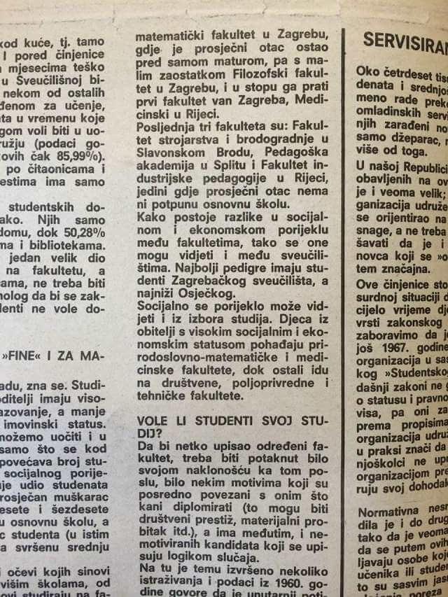 Doznajemo koji je studentski posao bio najčešći u Zagrebu prije 30 godina