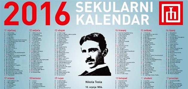 Objavljen sekularni kalendar za 2016. godinu