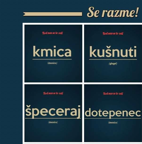 Možete li ove 'purgerske' riječi prevesti na standardni hrvatski?
