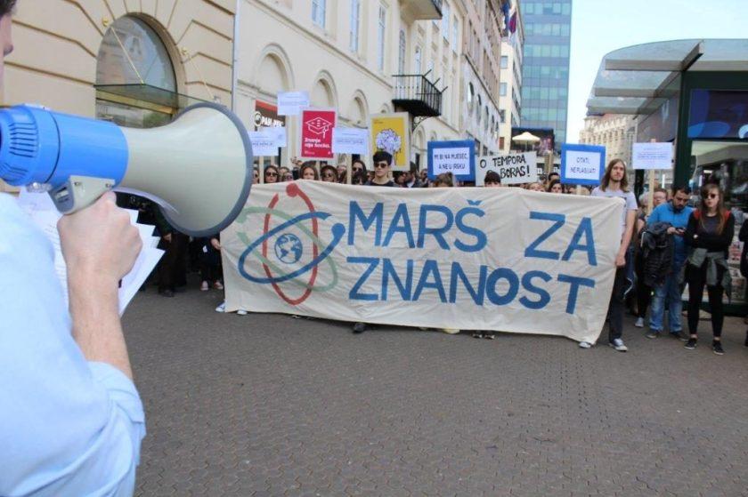 Marš za znanost u Zagrebu foto: Marko Matijević|srednja.hr