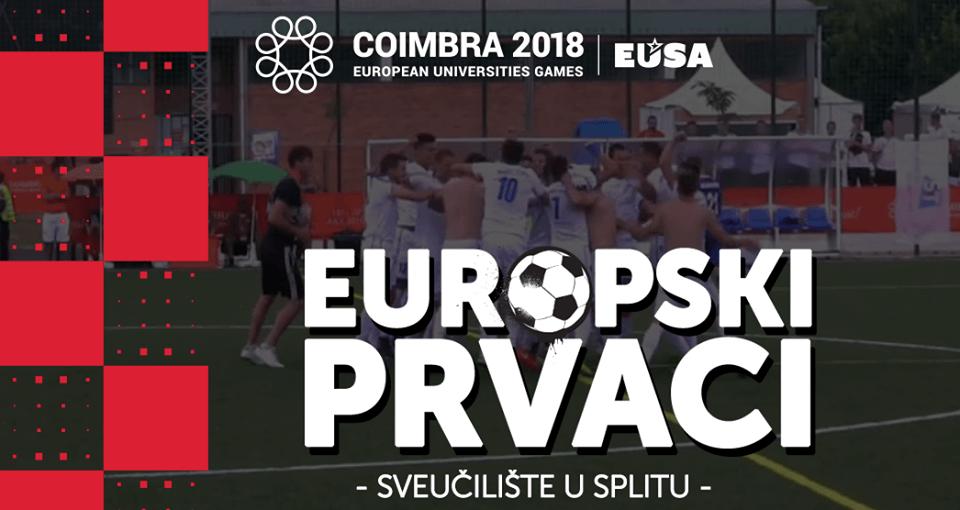 Hrvatska ima sveučilišne nogometne prvake: Na europskim igrama studenti iz Splita pokorili konkurenciju
