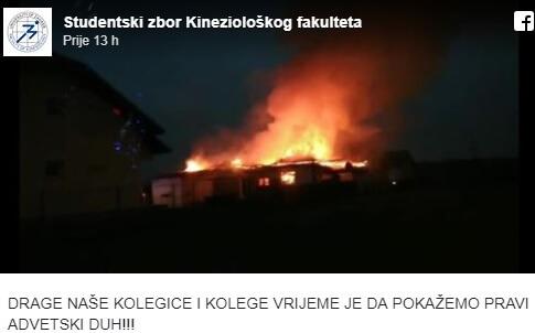 U stravičnom požaru studentici KiF-a izgorjela kuća: 'Ništa se nije moglo spasiti'