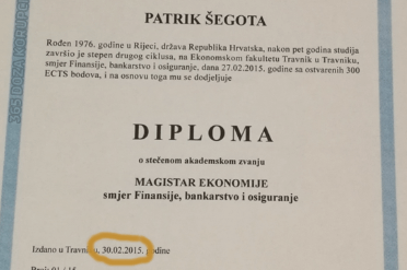 Internetom kruži fotografija diplome šefa zagrebačkih Gradskih groblja izdana 30. veljače: Pitali smo fakultet je li istinita