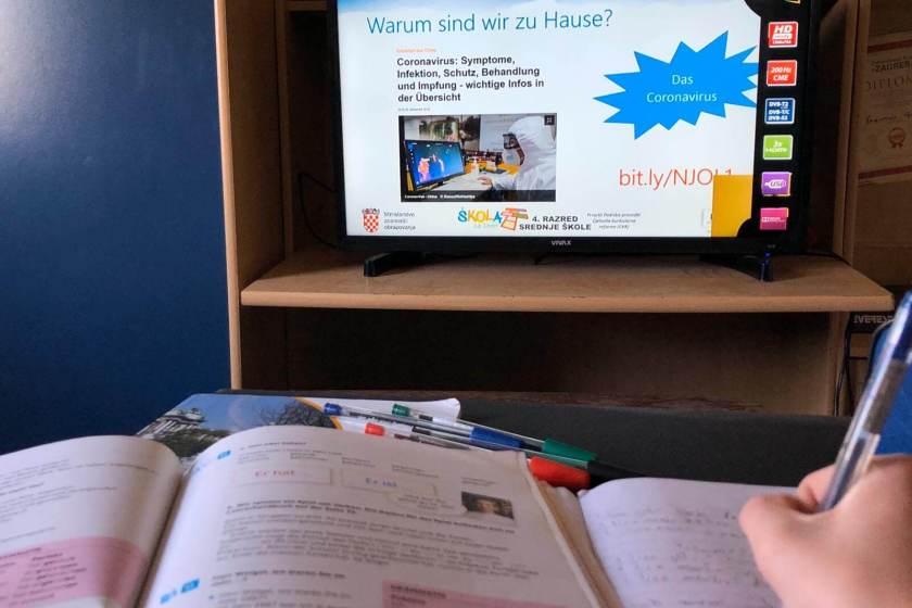 nastava online, škola kod kuće