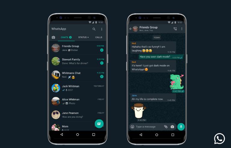 whatsapp dark mode tamni način rada