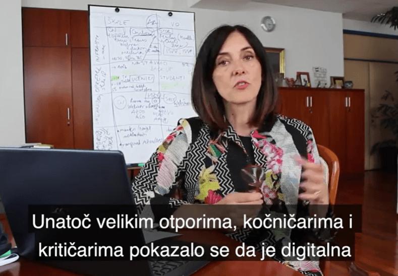 U novom videu ministrica se obrecnula na kritičare: Hvali se da uvodi izbornu informatiku u 1. razred