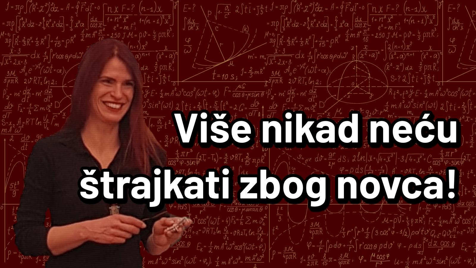 [Video] Učiteljica Marlena: 'Više nikad neću štrajkati zbog novca'