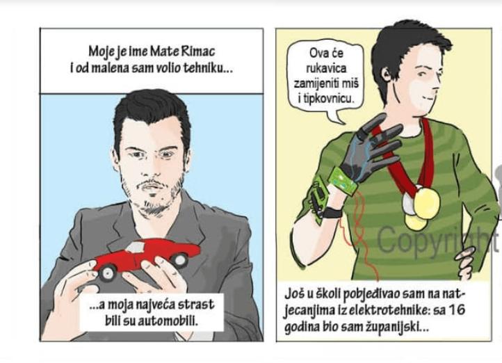 Mate Rimac dospio u udžbenik: No, nije jedini Hrvat u knjigama prepunih stripova
