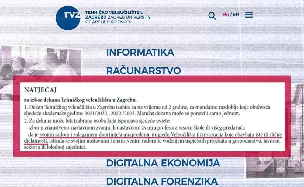 TVZ bira dekana, traže osobu koja je doprinijela ugledu faksa: Pitali smo ih kako se to mjeri