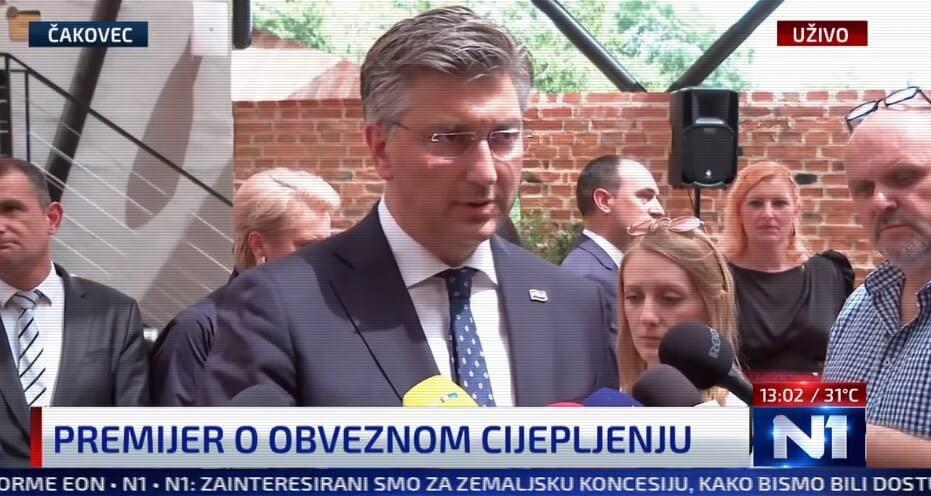 Plenković: Raspravljamo o obveznom cijepljenju za školstvo i još dva sektora