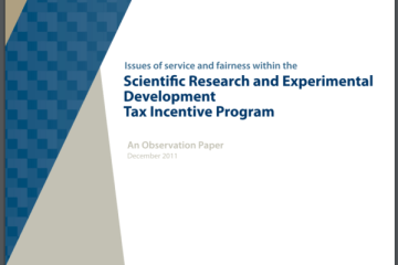 Issues of service and fairness within the Scientific Research and Experimental Development Tax Incentive Program_2011