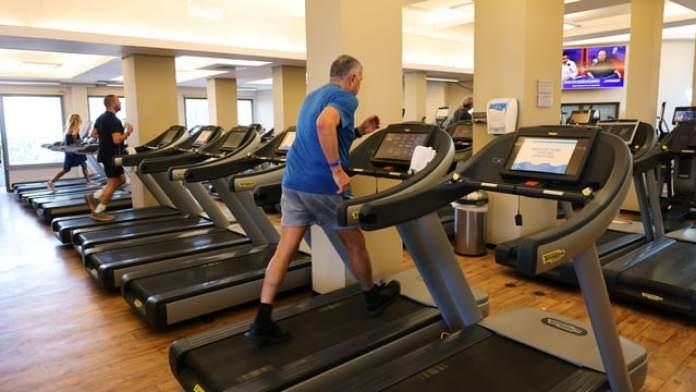 Fitness center in Israel.