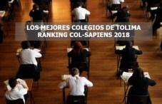 LOS MEJORES COLEGIOS DE TOLIMA SEGÚN EL RANKING COL-SAPIENS 2018