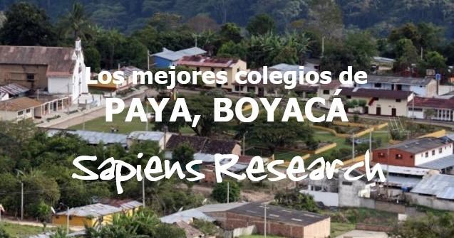 Los mejores colegios de Paya, Boyacá