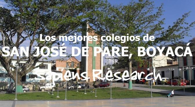 Los mejores colegios de San José de Pare, Boyacá