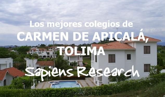 Los mejores colegios de Carmen de Apicalá, Tolima