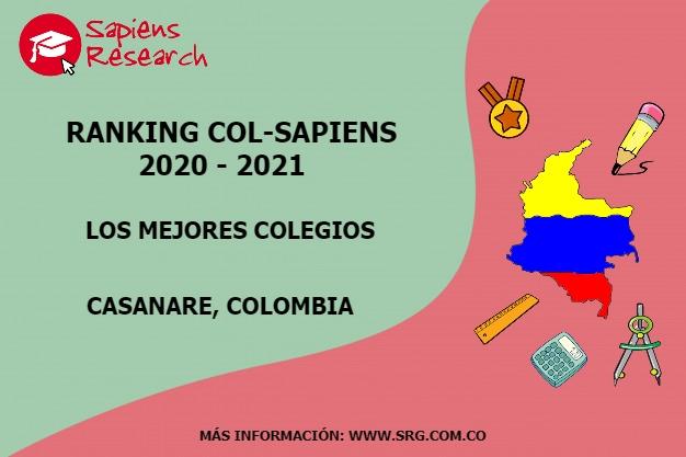 Ranking mejores Colegios-Casanare, Colombia 2020-2021