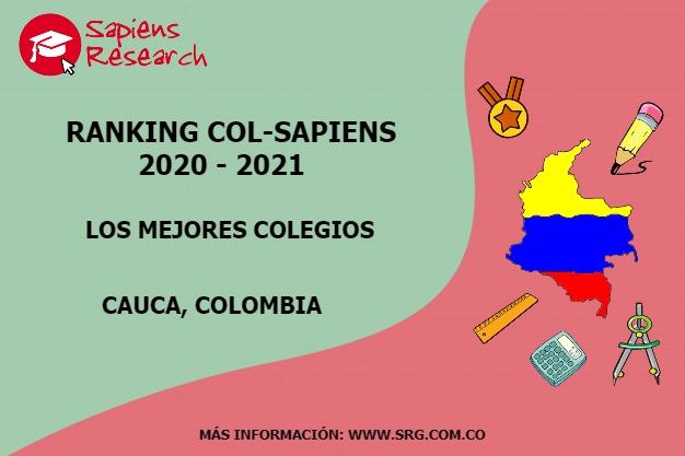 Ranking mejores Colegios-Cauca, Colombia 2020-2021