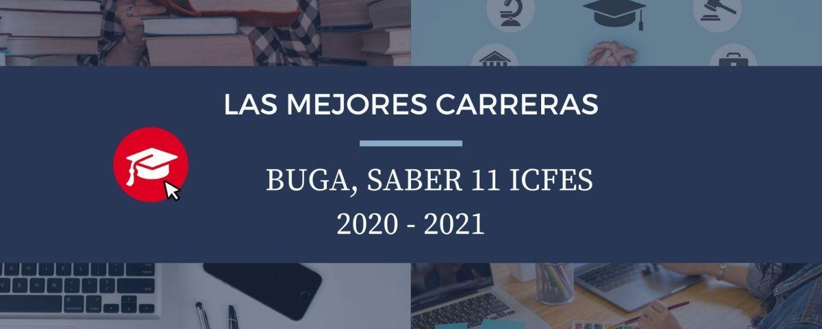 Las mejores carreras Buga, saber 11, Icfes 2020-2021