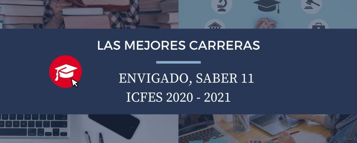 Las mejores carreras Envigado, saber 11, Icfes 2020-2021