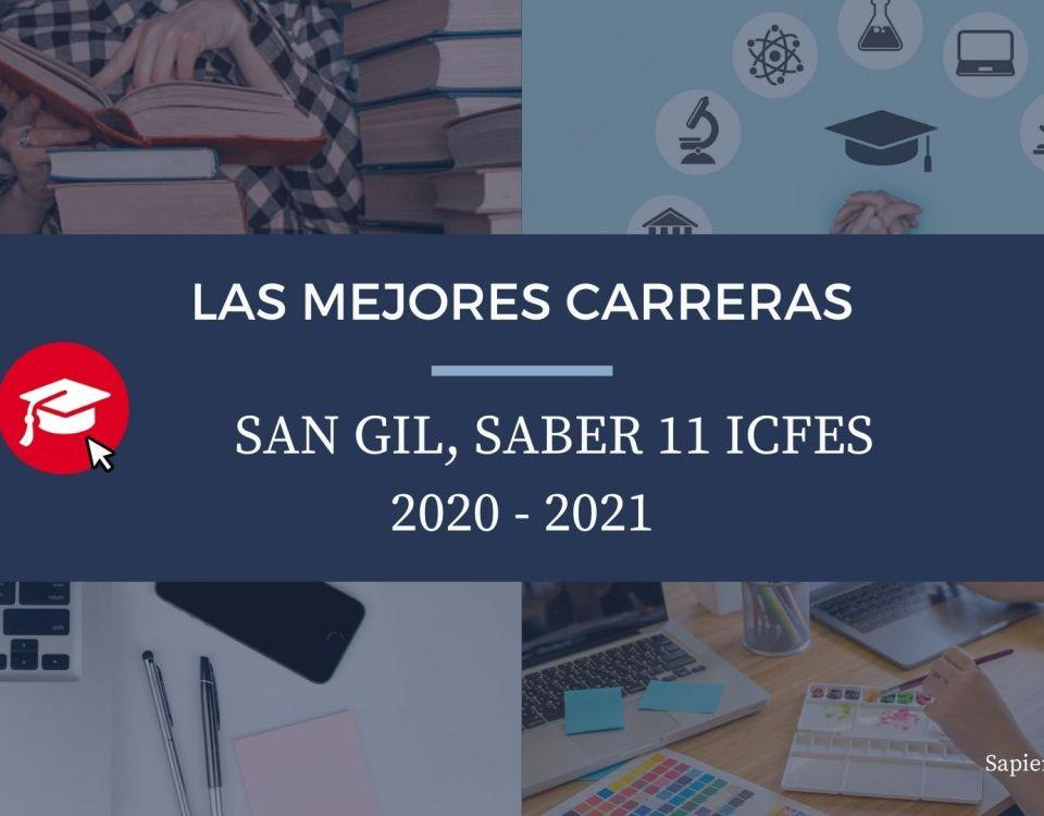 Las mejores carreras San Gil, saber 11, Icfes 2020-2021