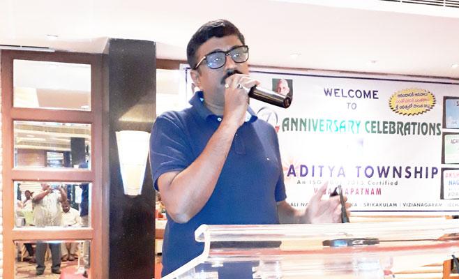md speech in seventh anniversary of sri aditya township