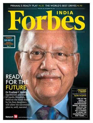 Forbes India, November 2014.