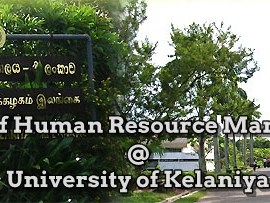 Master of Human Resource Management at University of Kelaniya as one of the most preferred study programme in Human Resource field.